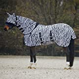 Best On Horse Fly Rug with Mask Zebra-6'6