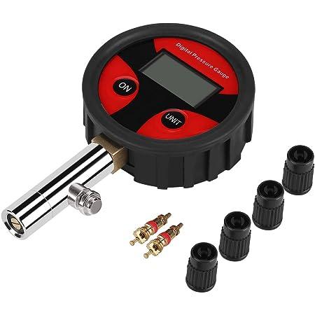 Zerodis Digital Reifendruck Messgerät 0 200psi Luftdruck Reifen Messgerät Mit Lcd Bildschirm Am Besten Für Auto Lkw Motorrad Einfaches Prüfen Und Lesen Küche Haushalt