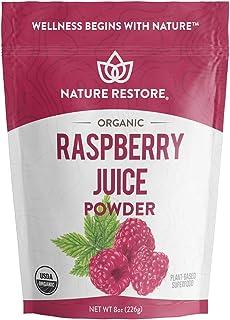 Sponsored Ad - USA Grown Organic Red Raspberry Juice Powder, 8 Ounces, Non GMO, Gluten Free, Vegan