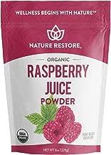 USDA Certified Organic Red Raspberry Juice Powder, 8 Ounces, Non GMO, Gluten Free, Vegan