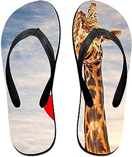 3fc89db165562 Z-YY Deer Women's Men's Lightweight Flip Flops Beach Slippers Shower Sandal