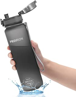 PROIRON Running Water Bottle BPA Free, Bike Water Bottle, Leak Proof Sports Water Bottles for Gym Runners Cycling, Drink B...