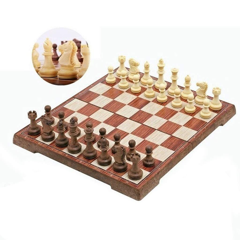 Juegos tradicionales Ajedrez Tablero de ajedrez plegado Torneo de tablero magnético Viaje Juego de ajedrez portátil Damas magnéticas internacionales Juego de ajedrez Jugando Regalo Juegos de mesa Ajed: Amazon.es: Hogar