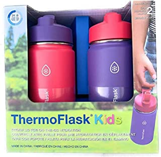 Thermoflask Stainless Steel Kids 14oz Straw Bottle 2pk...