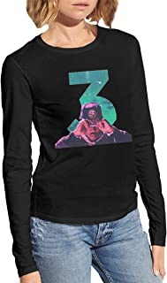 Chance The Rapper Breathable Woman Tops Long Sleeve T Shirts Black