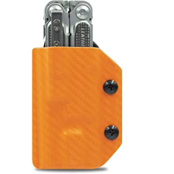 Clip Carry Kydex Multitool Sheath For Leatherman Free P2 Made In Usa Multi Tool Not Included Edc Multi Tool Holder Holster Cover Carbon Fiber Orange Amazon Com