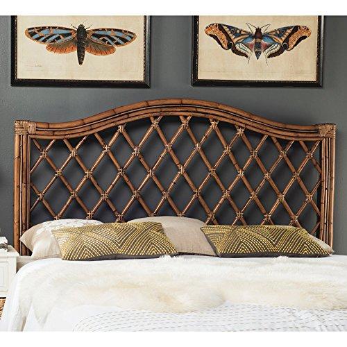 Safavieh Home Collection Gabriella Antique Grey Wicker Headboard, Queen
