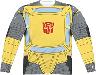 Transformers Bumblebee Costume Unisex Adult Long-Sleeve Sublimated T Shirt for Men and Women