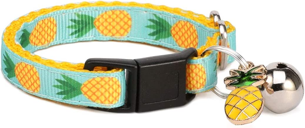 WAAAG Pet Supplies Tropical Dog Collar Pineapple Cat New mail Max 54% OFF order