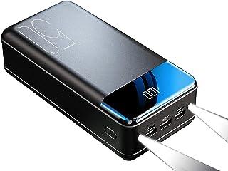 Power Bank 50000mah, bärbar laddare med hög kapacitet USB C 2.1A Snabb laddning 6 portar Externt batteri med LED-digitalfi...