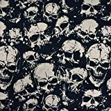 MAGAM-Stoffe Muerto Skulls Jersey Kinder Stoff Oeko-Tex