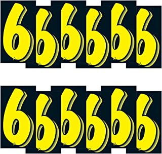 VERSA-TAGS 7 1/2 Inch Yellow & Black Numbers Windshield Pricing Stickers Car Dealer (6)