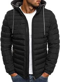 3XL Winter Down Jacket for Men Drawstring Fashion Zipper Light Warm Coat Puffer Outwear Causal Slim Hoodies Pocket
