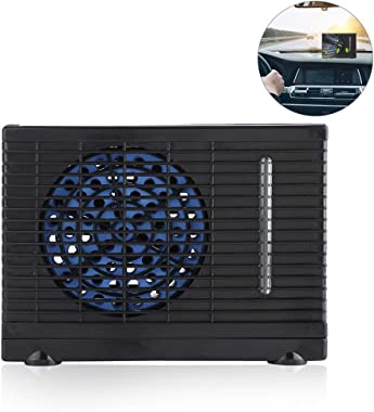 Car Air Conditioner, Portable Mini Low Energy Consumption 12 V Two Speeds Evaporative Cooling Fan for Vehicle Use