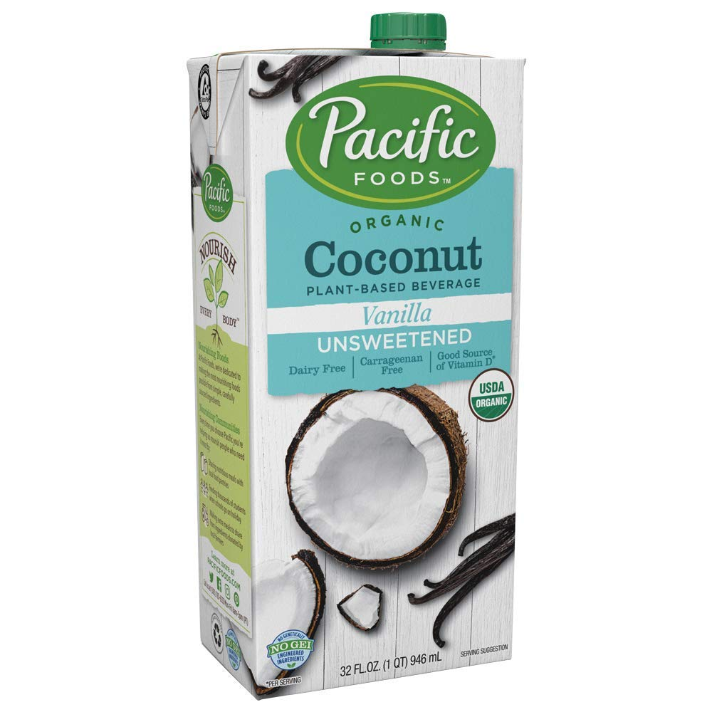 Pacific Foods Organic Popular brand Coconut Be Unsweetened Vanilla Plant-Based Inventory cleanup selling sale