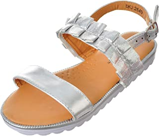 67ee936f6004 Amazon.ca  Silver - Sandals   Girls  Shoes   Handbags