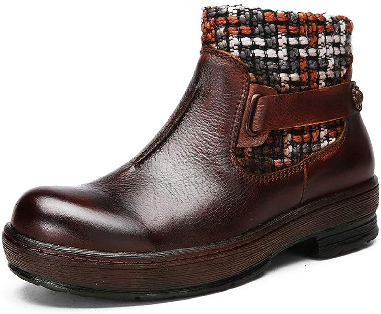 AW -YTXYDY Kvinnors Vintage Non -Slip -Slip -Slip Booslipss, Cowhid Material, Work  Shopping  resa, (35 -40 Yards) (Färg  bspringaaa (A), Storlek  40)  Beställ nu lägsta priser