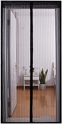 Installation Facile Sans Outils Rideau de Porte Anti-moustique Fermeture Automatique Pour Couloirs Portes Patio Rideau Anti Moustique Bogues Magn/étique Moustiquaire Porte