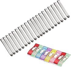 """BETOY Naaiklemmen 20 Pack RVS Hemming Clips 3 """"Markering Liniaal met 8 Plastic Naaiklemmen voor Pinning en Markering Acces..."""