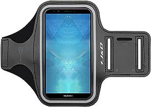 J&D Compatible para Huawei Y7 2019/Y7 Pro 2019/Y7 Prime 2019/Honor 7C/Y7 Prime 2018/Y7 Pro 2018/Honor 8A 2020 Brazalete Deportivo para Correr, Ranura para Llaves, Conexión Auriculares
