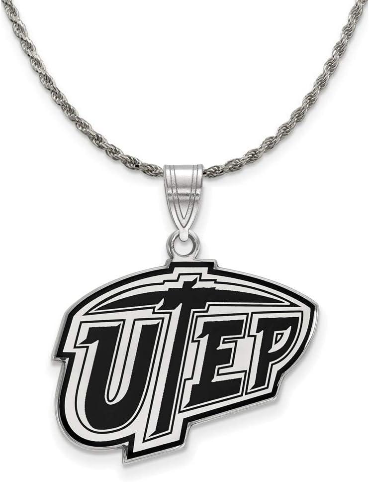 The Black Mail order cheap Bow Silver U. Fashionable of Texas Pendant Lg Paso at Ne Enamel El