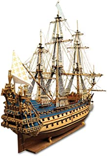 TOSUAI Modèle Voilier Puzzle 3D 1/90 Royal Soler Cuirassé Bois Model Kit 102.7Cm Bureau Décor, Battleship Musashi, Cadeaux...