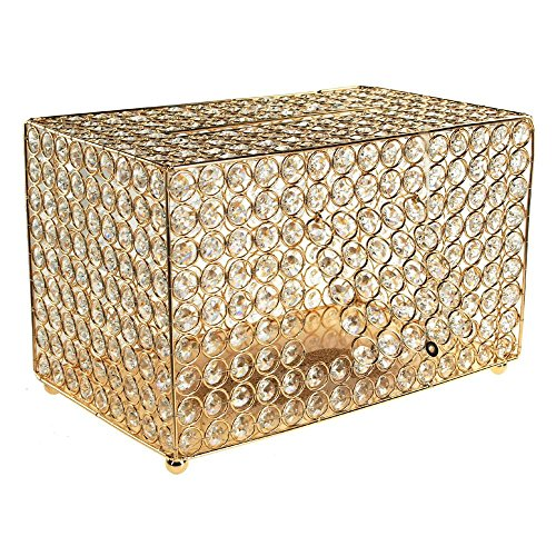 Homeford Crystal Money Card Box Wedding Centerpiece, 13-3/4-Inch (Gold)