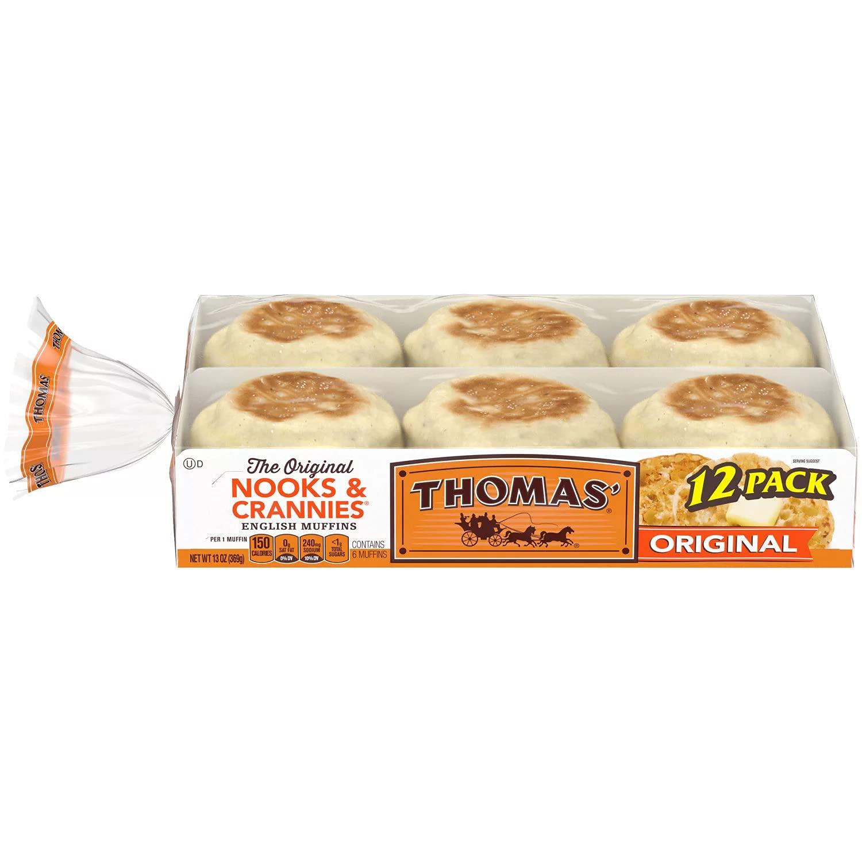Regular store Thomas' Original Nooks and Crannies White Muffins P English Free Shipping Cheap Bargain Gift 1 -
