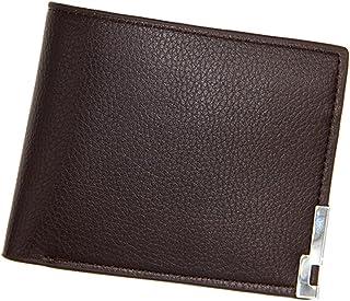 BeniNew men's short wallet simple wallet-dark brown