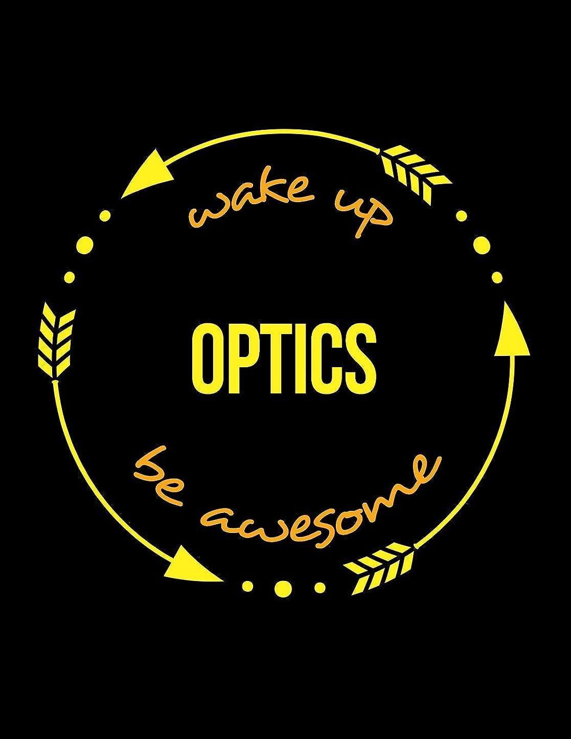 キャンバス仕方追い払うWake Up Optics Be Awesome | Gift Notebook for a Spectacle Frame Maker, Wide Ruled Journal