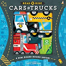 Read & Ride: Cars & Trucks: 4 board books inside! (Toy Book for Children, Kids Book about Trucks and Cars