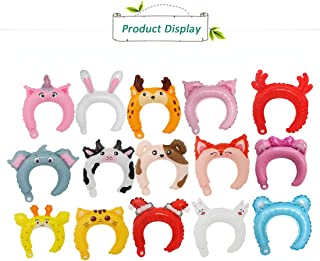 Morndew 30 PCS Headbands Foil Balloons Pack of Animal Headbands and Ears Headbands for Animal Party Zoo Party Woodland Theme Party Birthday Party Wedding Party Decorations