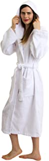 TowelSelections Women's Robe Turkish Cotton Hooded Terry Bathrobe Made in Turkey
