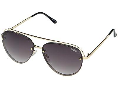 QUAY AUSTRALIA Long Story (Gold/Smoke) Fashion Sunglasses