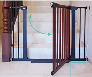 Baby Gates for Stairs Barrier Child Barrier Door Pet Free Punching Fence Dual Lock Self Closing