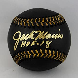 Jack Morris Autographed Rawlings OML BLACK Baseball w/HOF 18 - Beckett Auth