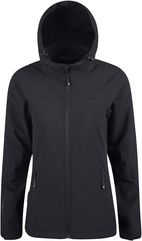 Mountain Warehouse Exodus Womens Softshell Jacket  Cool Summer Coat