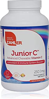 Zahler Junior C, Chewable Vitamin C, Great Tasting Kids Vitamin C, All-Natural Orange Flavor, Certified Kosher (500 Tablets)