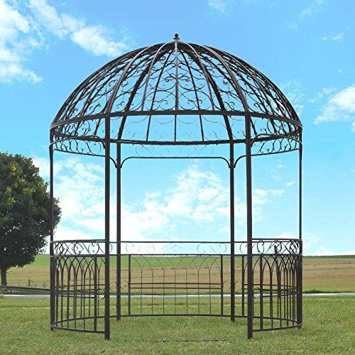 Großer Pavillon Gloriette Gartenkiosk, Eisen, Ø 250 cm