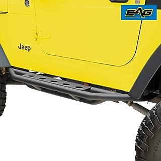 EAG Nerf Bars Side Step Armor Rock Guards Tubular Fit for 87-06 Jeep Wrangler TJ YJ