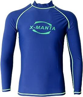 Sharplace Men's Rash Guard Top Swimming Surfing Diving Shirts Sun Protection Long Sleeve Wetsuits Rash Vests