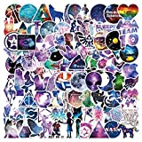 Galaxy Estilo Pegatinas, 100 PCS Impermeables Pegatinas Calcomanías Vinilo Adhesivos Graffiti Sticker Pack para Equipaje, Portátil, Botella de agua, Coche, Guitarra, Patineta, Bicicleta, Motocicleta