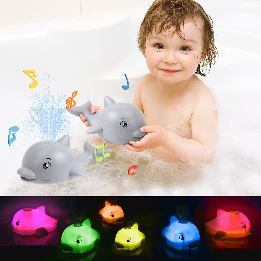 Mini Tudou Baby Bath Toys Musical Shower Toy Dolphin wit Bathtub Year-end annual Credence account