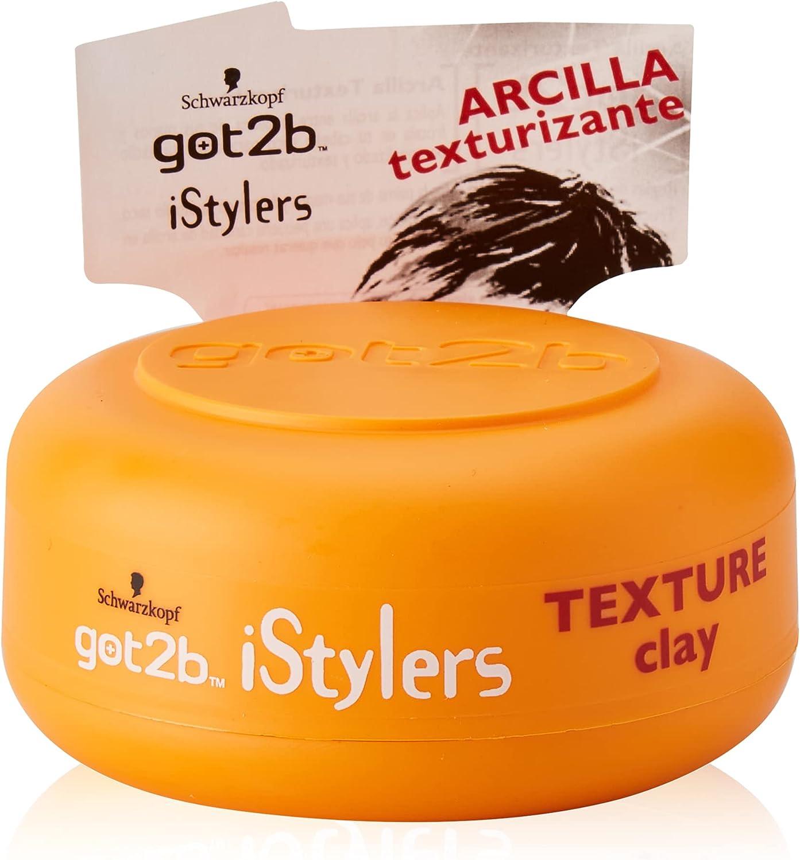 Got2b - Arcilla Texturizante iStylers – 6uds de 75ml (450ml) – Estilo personalizado – Con efecto mate – Fuerte fijación