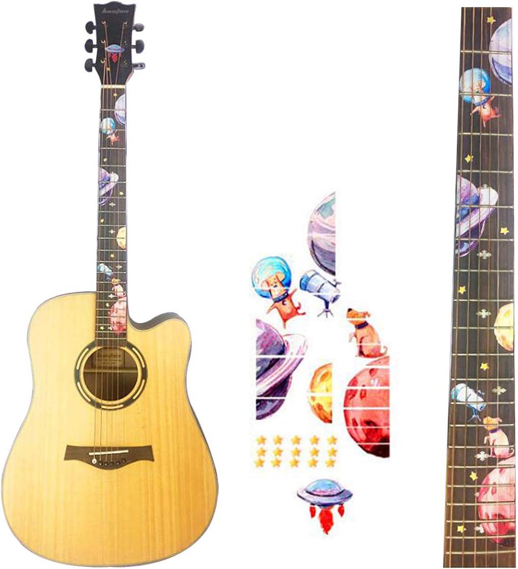 Pegatinas para diapasón de guitarra, adhesivo para mástil, pegatinas para ukelele, instrumentos musicales, decoración, accesorios (perro)