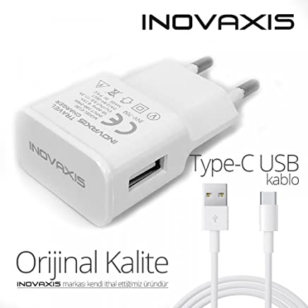 inovaxis Tp-Link Neffos N1 Hızlı Şarj Cihazı + Type-C Data Kablosu, Beyaz, 2.2A cc22