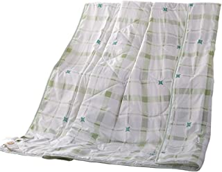 NATURETY Thin Comforter for Summer,Bed Quilt (Queen/Full, Green)