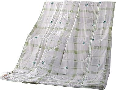 NATURETY Thin Comforter for Summer,Bed Quilt Light Duvet Insert Quilts (Queen/Full, Green)
