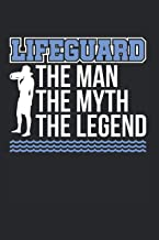 Lifeguard The Man The Myth The Legend: Bademeister & Swimming Pool Notizbuch 6'x9' Poolbesitzer Geschenk Für Freibad & Poo...