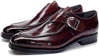 Zapatos monje masculinos,Zapato vestir formal banquete de fiesta monje Oficina de trabajo caminando zapatos de cuero de ne...